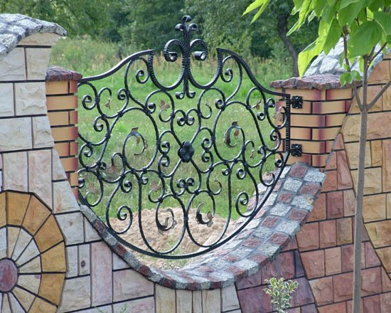 Wrought iron fence 2