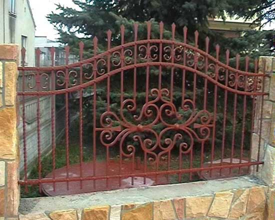 Wrought iron fence 22