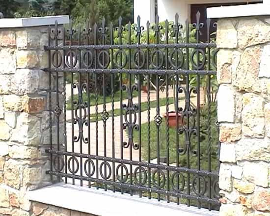 Wrought iron fence 24