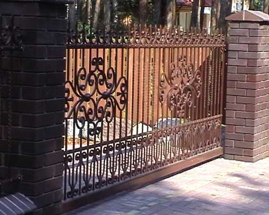 Wrought iron fence 30