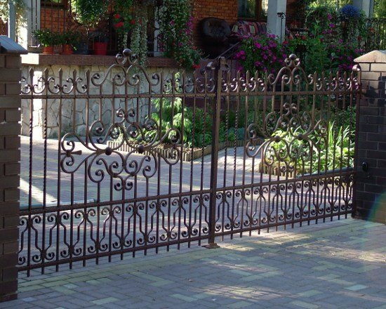 Wrought iron fence 33